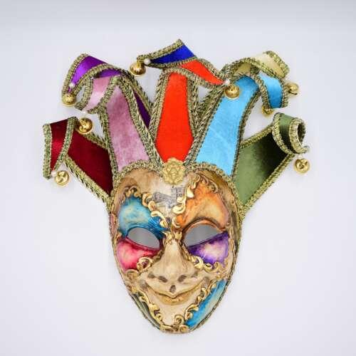 laguna maschere joker acquerello losanghe