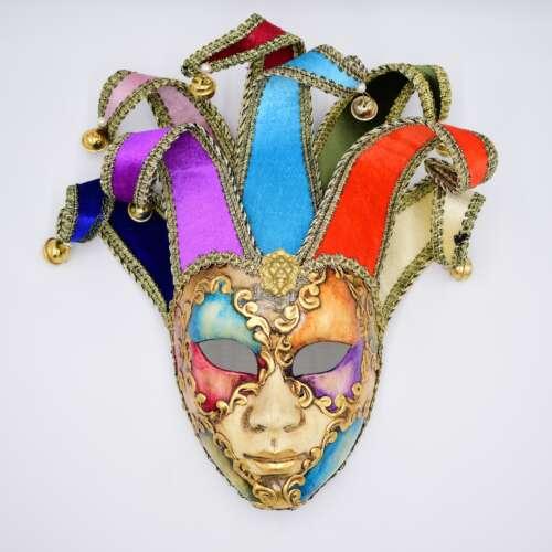 laguna maschere volto jolly acquerello multicolore