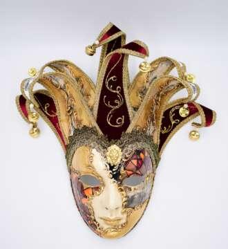 Laguna Maschere volto uomo bizantino jolly rame